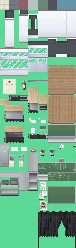 ชุดสร้างห้องเรียนญี่ปุ่น 001-P_School01